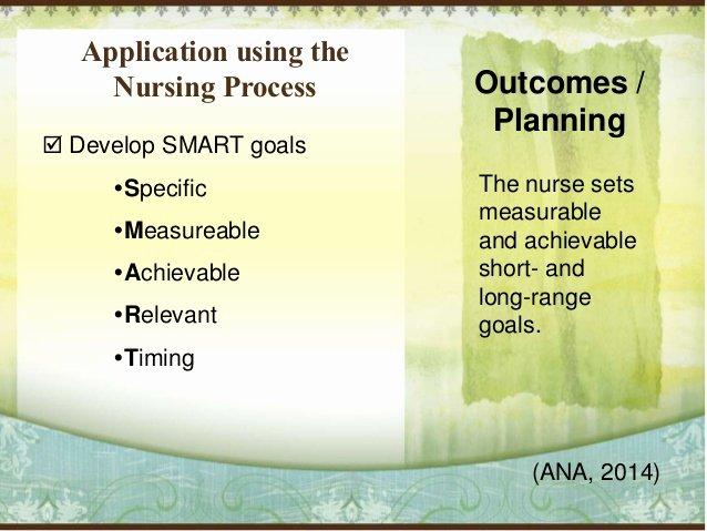 Smart Goals for Nurses Elegant Chronic Disease Management In the Older Adult