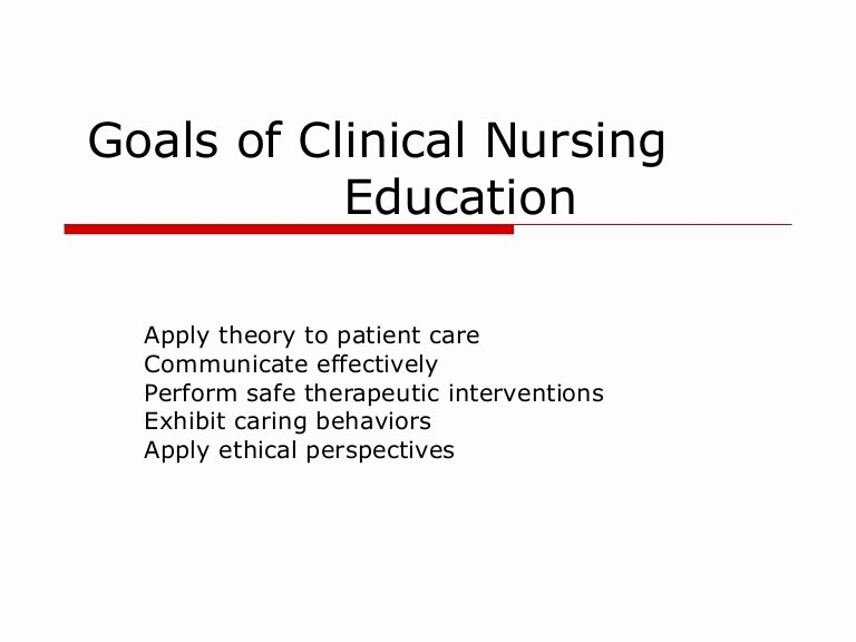Smart Goals for Nurses Fresh Goals Of Clinical Nursing Education
