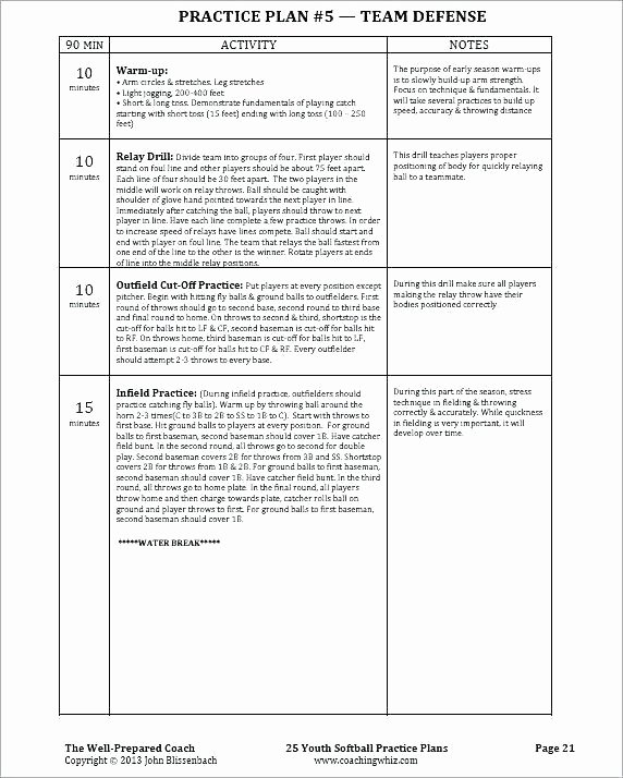 Snack Schedule Template for Sports Elegant Baseball Practice Schedule Template