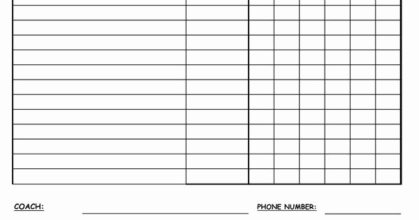 Snack Schedule Template for Sports Fresh Snack Schedule Template