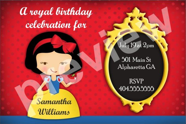 Snow White Invitation Template Beautiful Snow White Archives