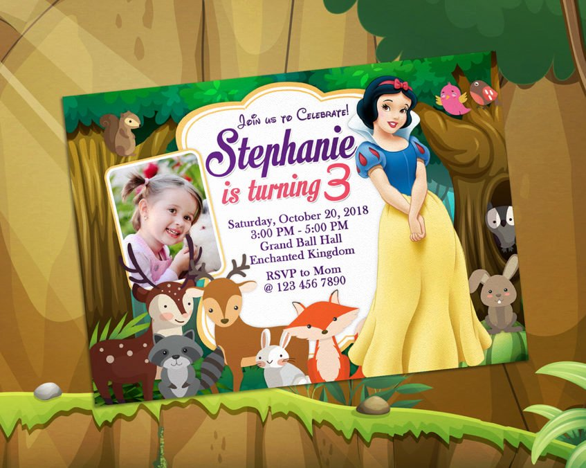 Snow White Invitation Template Best Of 5r Snow White Birthday Invitation