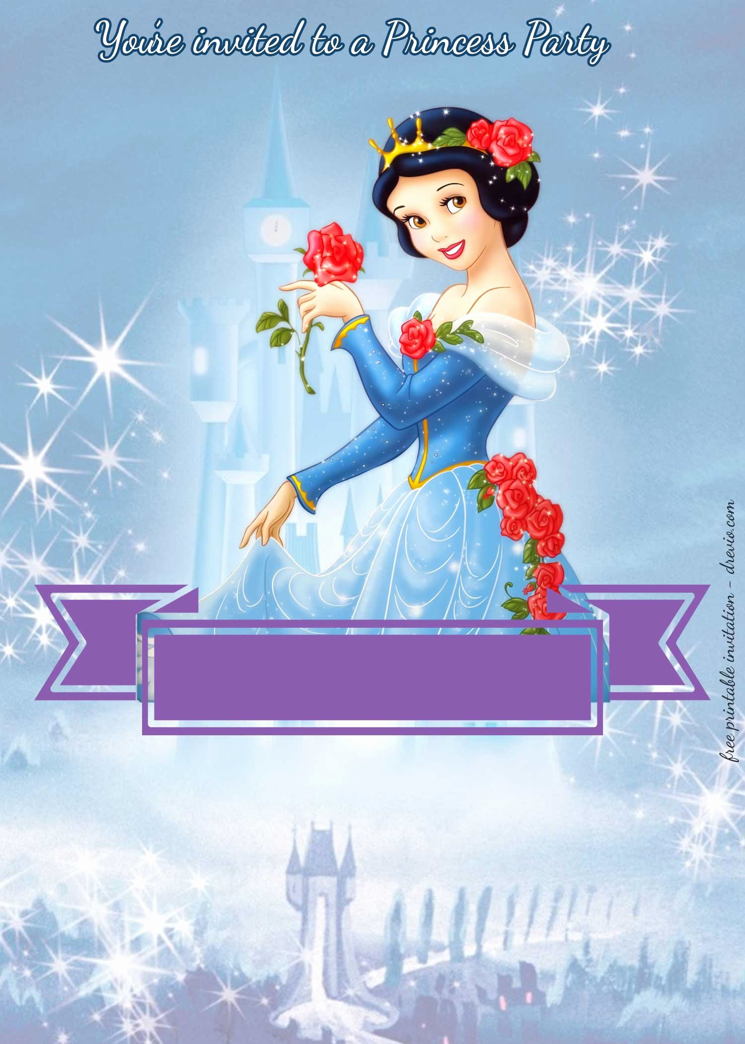 Snow White Invitation Template Best Of Free Disney Princesses Birthday Invitation Templates