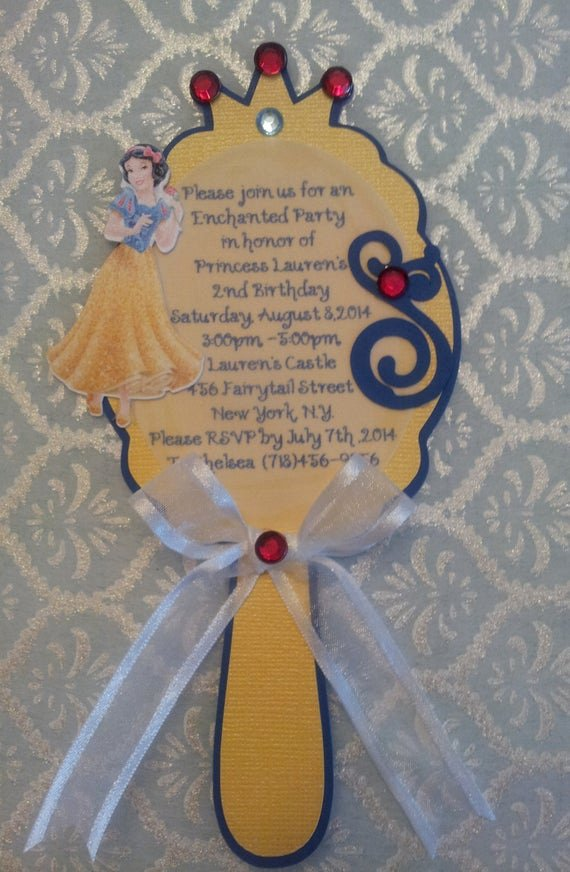 Snow White Invitation Template Best Of Snow White Mirror Invitation