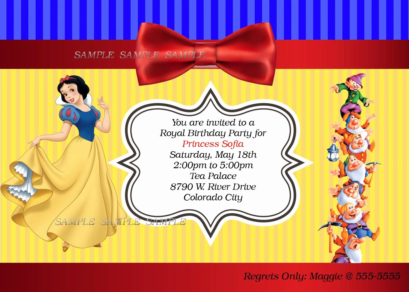 Snow White Invitation Template Fresh Snow White Birthday Party Invitation Wording Letter