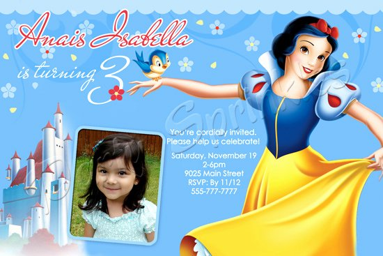 Snow White Invitation Template Inspirational Snow White Birthday Party Invitations