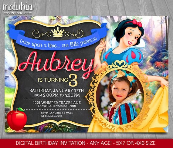 Snow White Invitation Template Inspirational Snow White Invitation Disney Snow White Invite Snow White