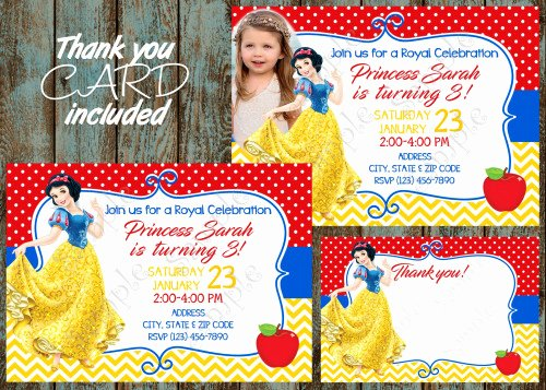 Snow White Invitation Template Lovely Snow White Invitation Snow White Birthday Snow White