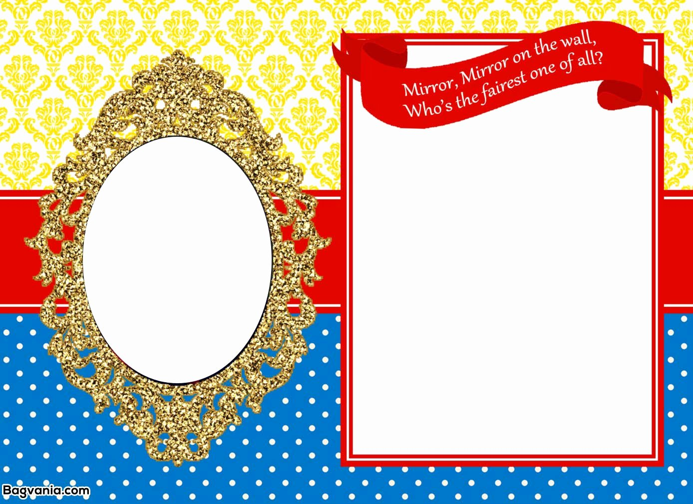 Snow White Invitation Template Unique Free Printable Snow White Birthday Invitations – Bagvania