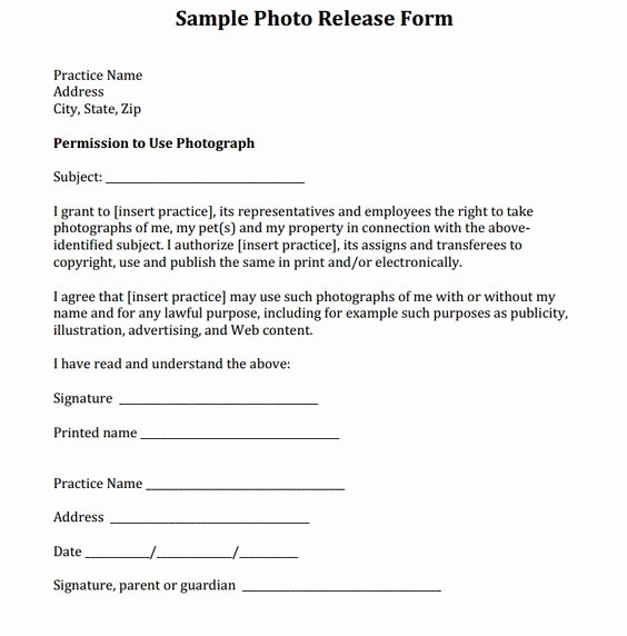 Social Media Permission form Beautiful Sample Release form Courtesy Of Dr Eric Garcia and