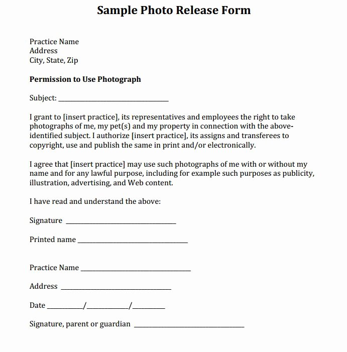 Social Media Permission form Lovely Sample Release form Courtesy Of Dr Eric Garcia and