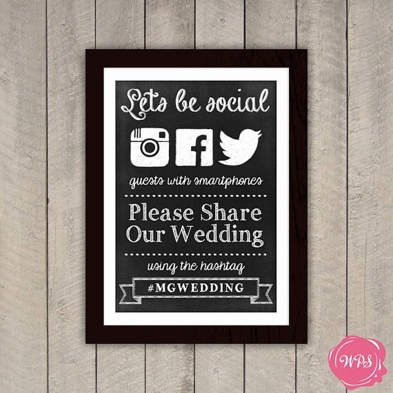 Social Media Wedding Sign Template Awesome 10 Unique Diy Wedding Chalkboards Elite Wedding Blog