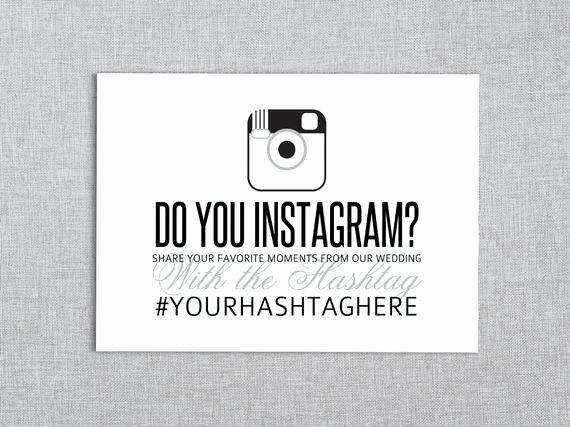 Social Media Wedding Sign Template Elegant Do You Instagram Wedding Reception social Media by Lashepherd