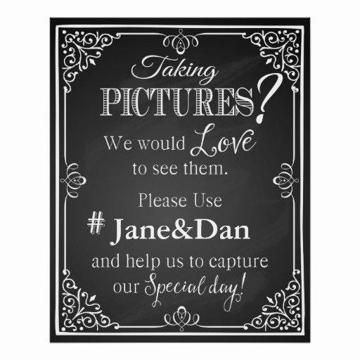 Social Media Wedding Sign Template Elegant social Media Wedding Sign Chalkboard Print