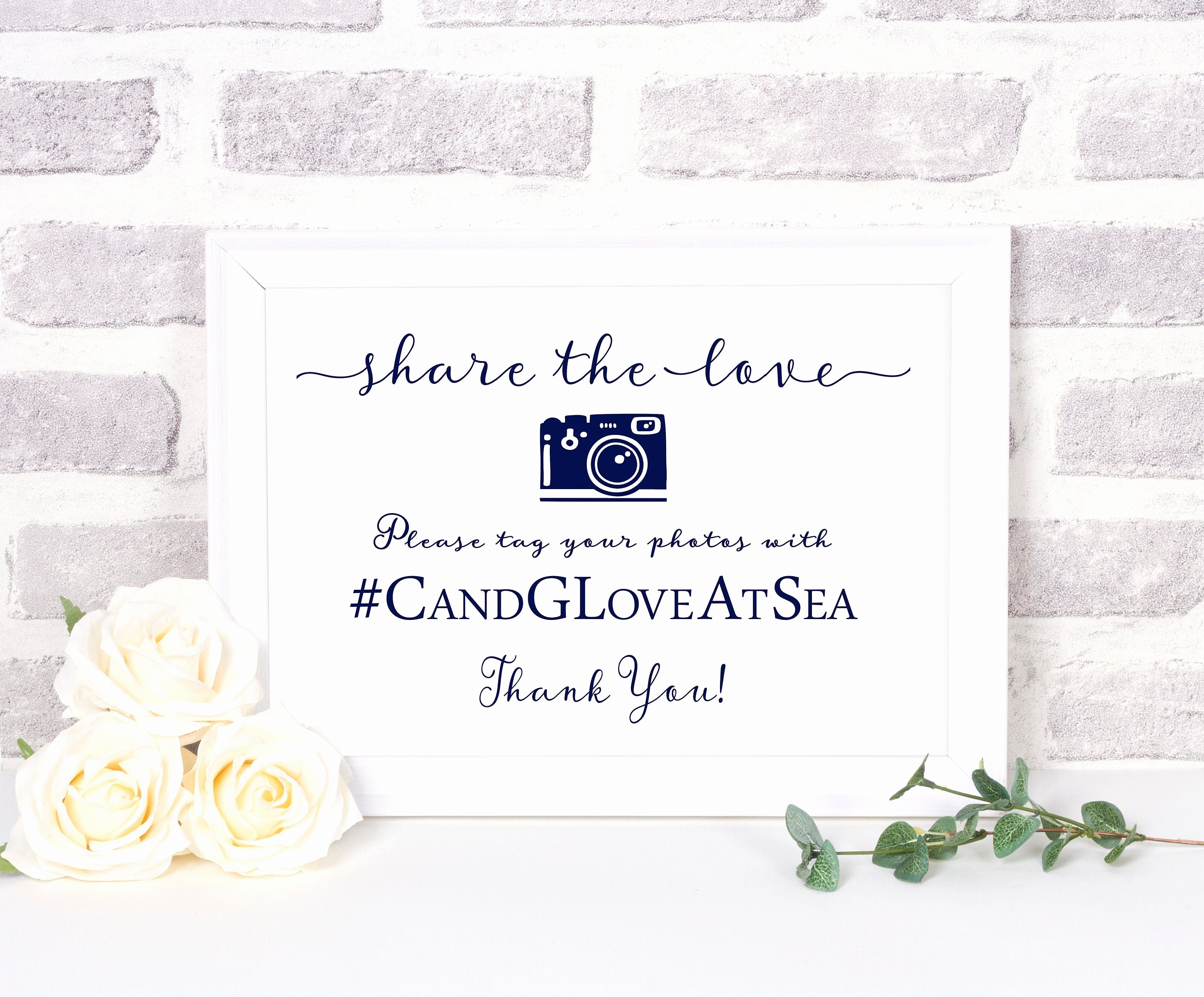 Social Media Wedding Sign Template Fresh Wedding Hashtag Sign Instant Download Template social