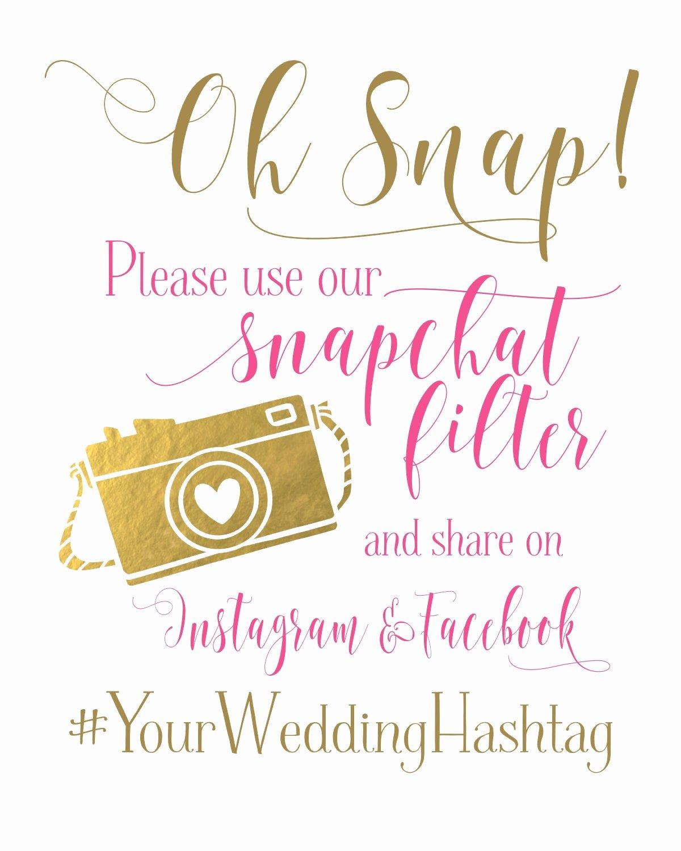 Social Media Wedding Sign Template Lovely Wedding Sign social Media for Snapchat Instagram and