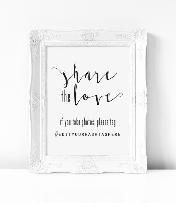 Social Media Wedding Sign Template Luxury the Love Sign