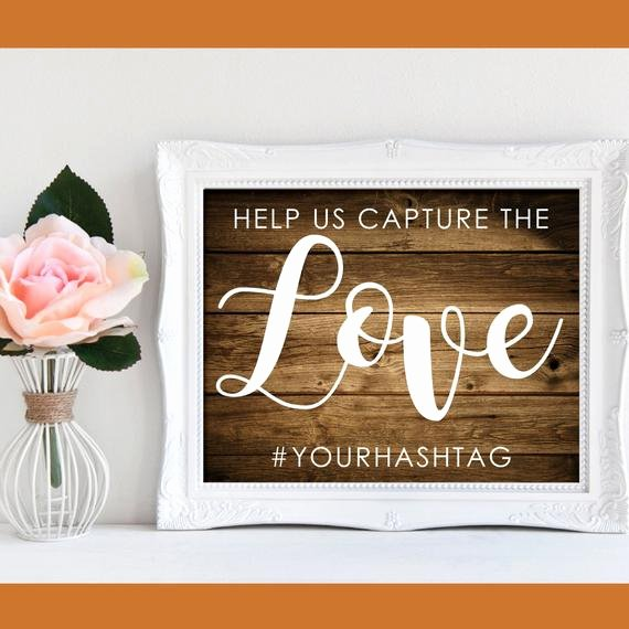 Social Media Wedding Sign Template Unique Help Us Capture the Love Rustic Printable Wedding Sign