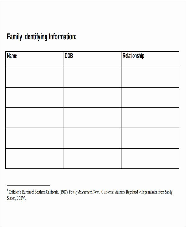 Social Work assessment form New 43 Free assessment forms