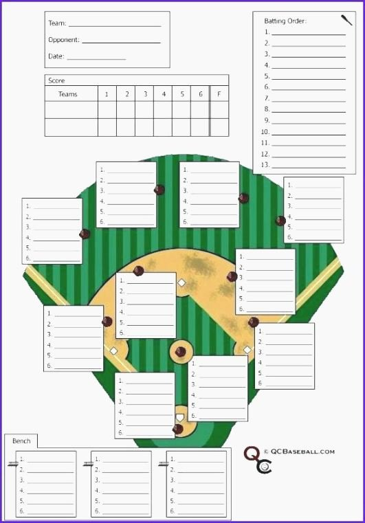 Softball Lineup Cards Printable Awesome top Persnickety Free Printable softball