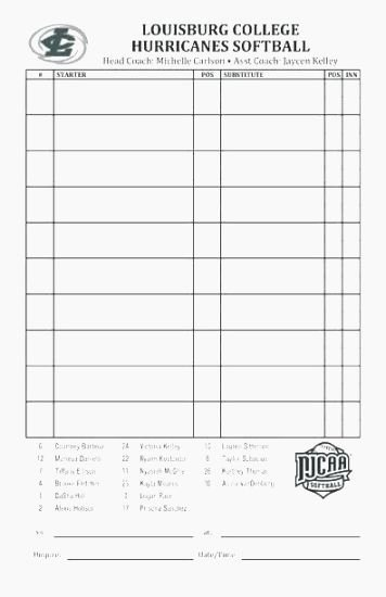 Softball Lineup Cards Printable Beautiful Hilaire Printable Lineup Cards