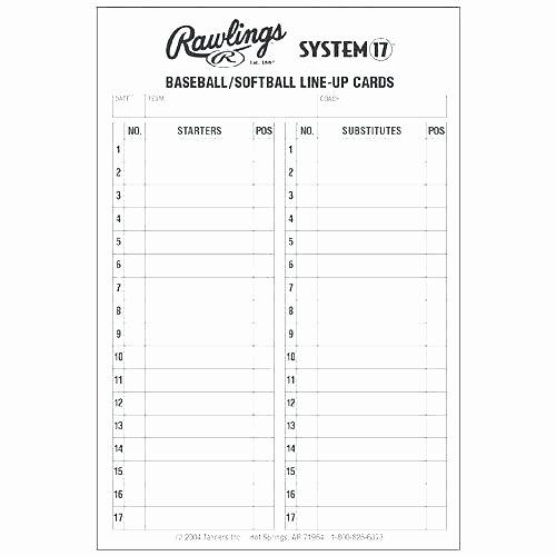 Softball Lineup Cards Printable Best Of Baseball Roster Template – Bigdatahero