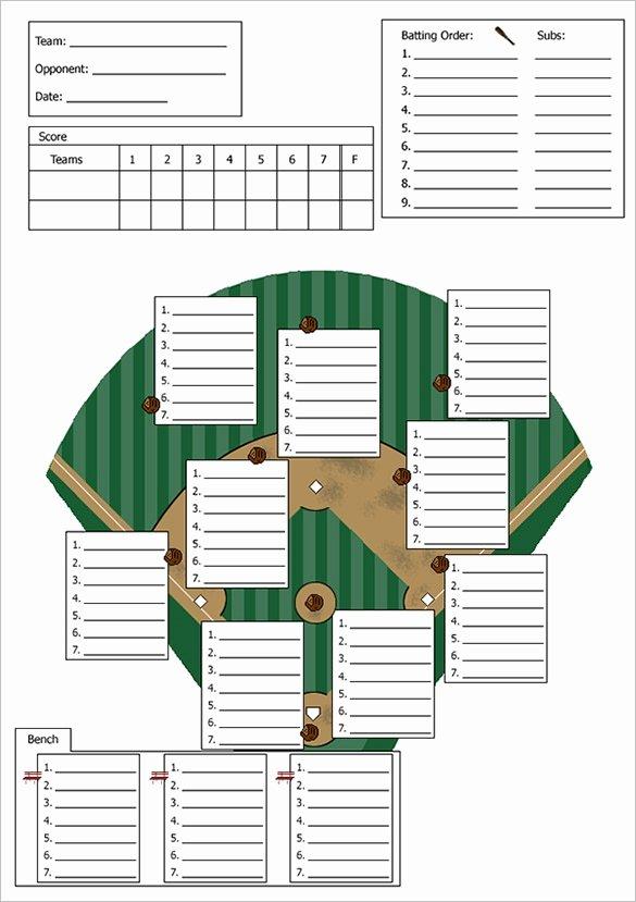 Softball Lineup Cards Printable Elegant Baseball Lineup Template