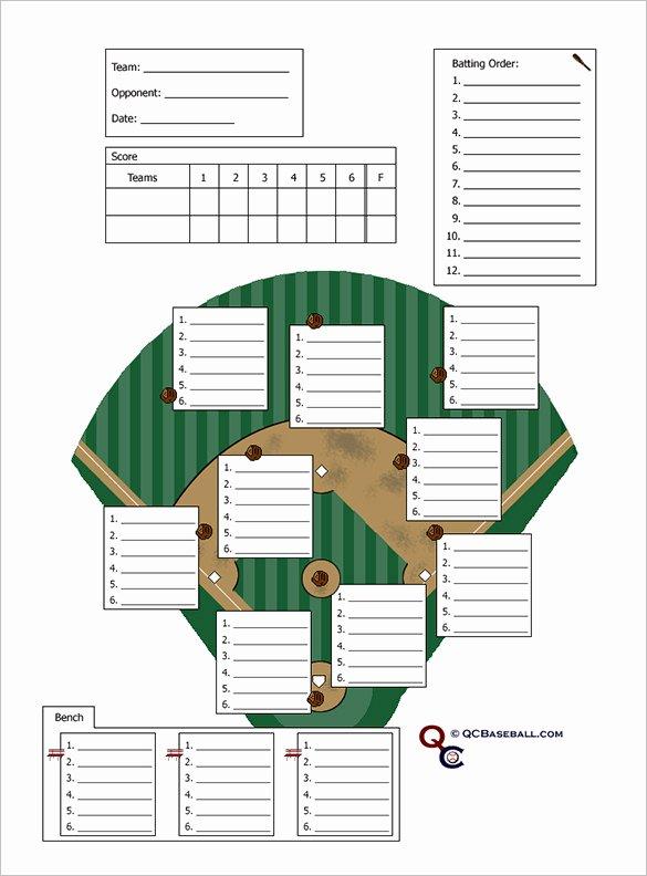 Softball Lineup Cards Printable Fresh Baseball Lineup Card Template Free Download Printable
