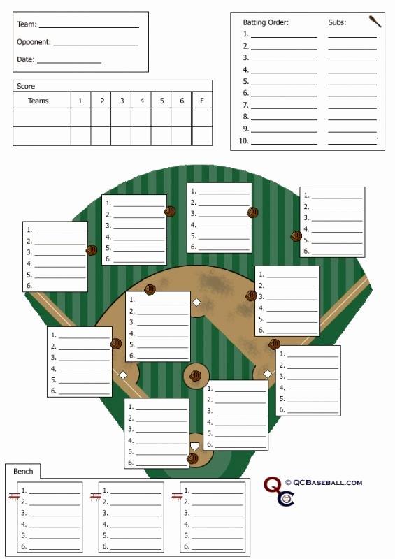 Softball Lineup Cards Printable Luxury Baseball Lineup Sheet