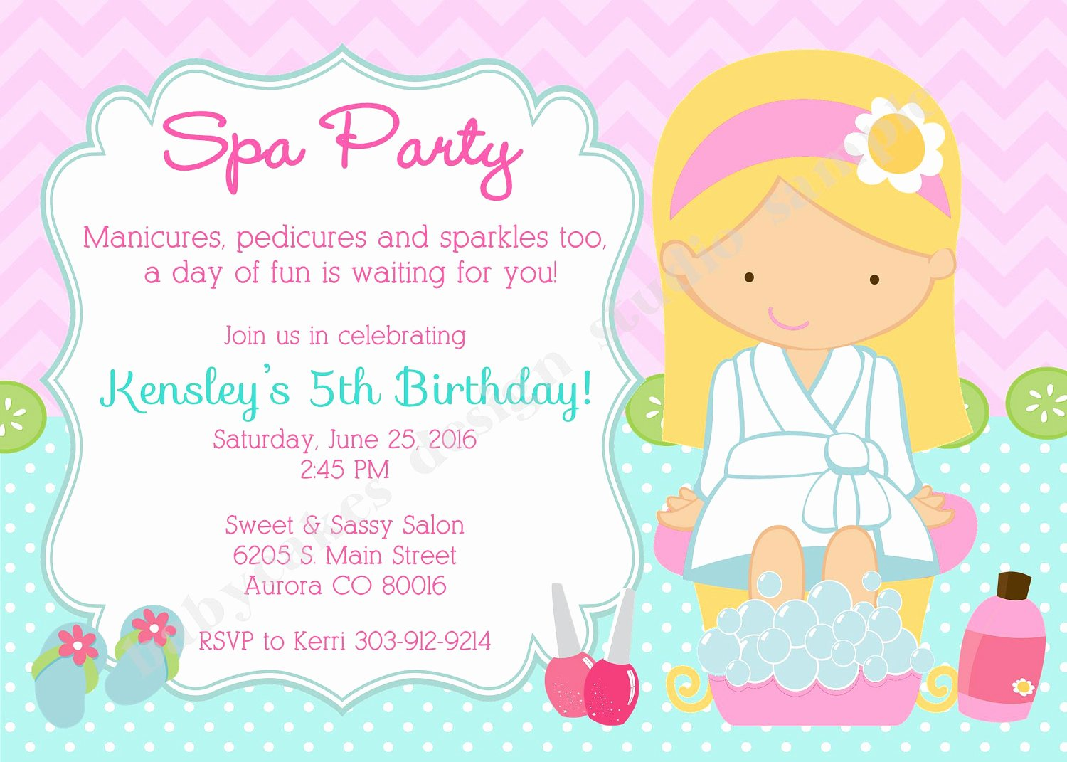 Spa Party Invitation Wording Luxury Spa Party Invitation Invite Spa Birthday Party Invitation