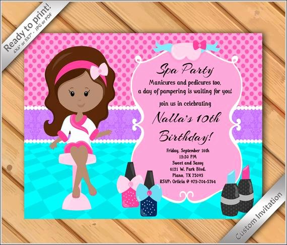 Spa Party Invitation Wording New Off Sale Spa Party Invitations for Girls Makeover