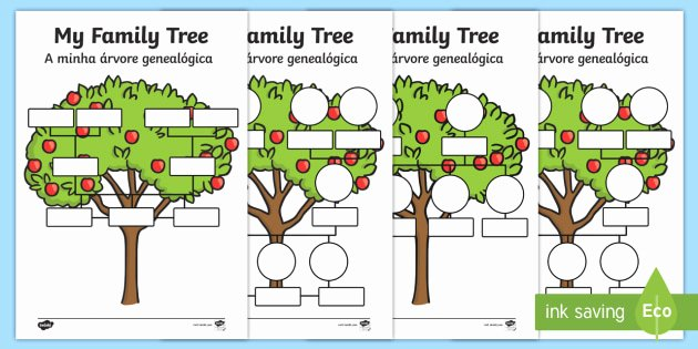 Spanish Family Tree Template Beautiful My Family Tree Worksheet Worksheets English Portuguese