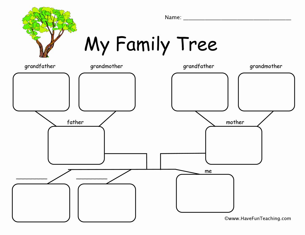 Spanish Family Tree Template Best Of 27 Of Spanish Worksheet Family Tree Template