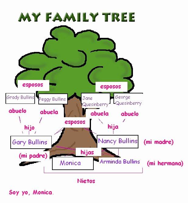 Spanish Family Tree Template Luxury Monica Bullins Spanish 1