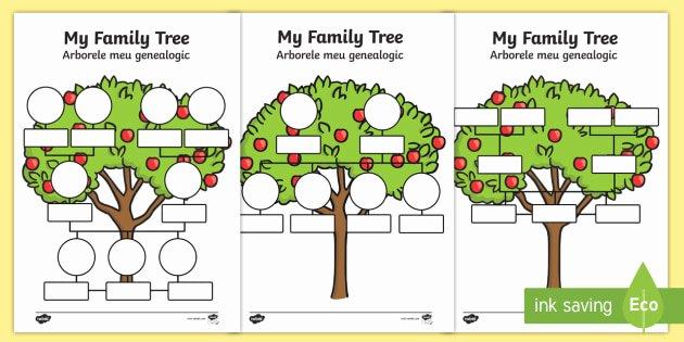 Spanish Family Tree Template Luxury My Family Tree Worksheet Activity Sheets English Romanian