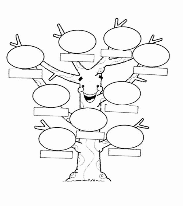 Spanish Family Tree Template New Árbol Genealógico Para Que Los Niños Describan En Ingles A