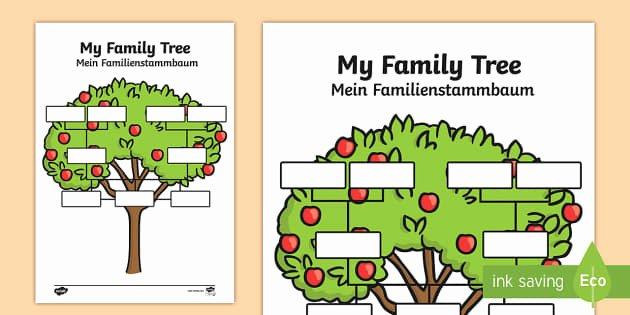 Spanish Family Tree Template Unique My Family Tree Worksheet Activity Sheets English German
