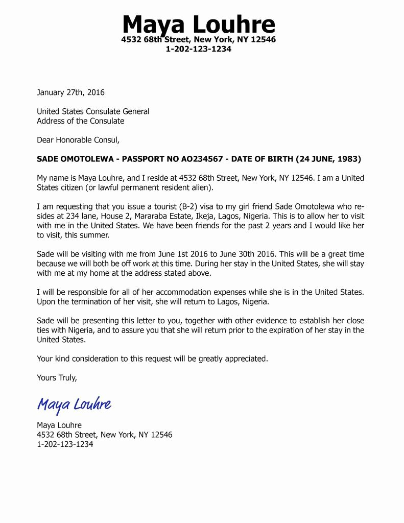 Sponsorship Letter for Visa Awesome Visitors Visa Sponsorship Letter Fresh Sample Invitation