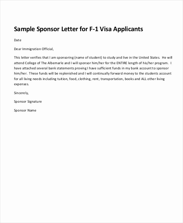 Sponsorship Letter for Visa Best Of 19 Examples Of Sponsorship Letters Word Pdf Google