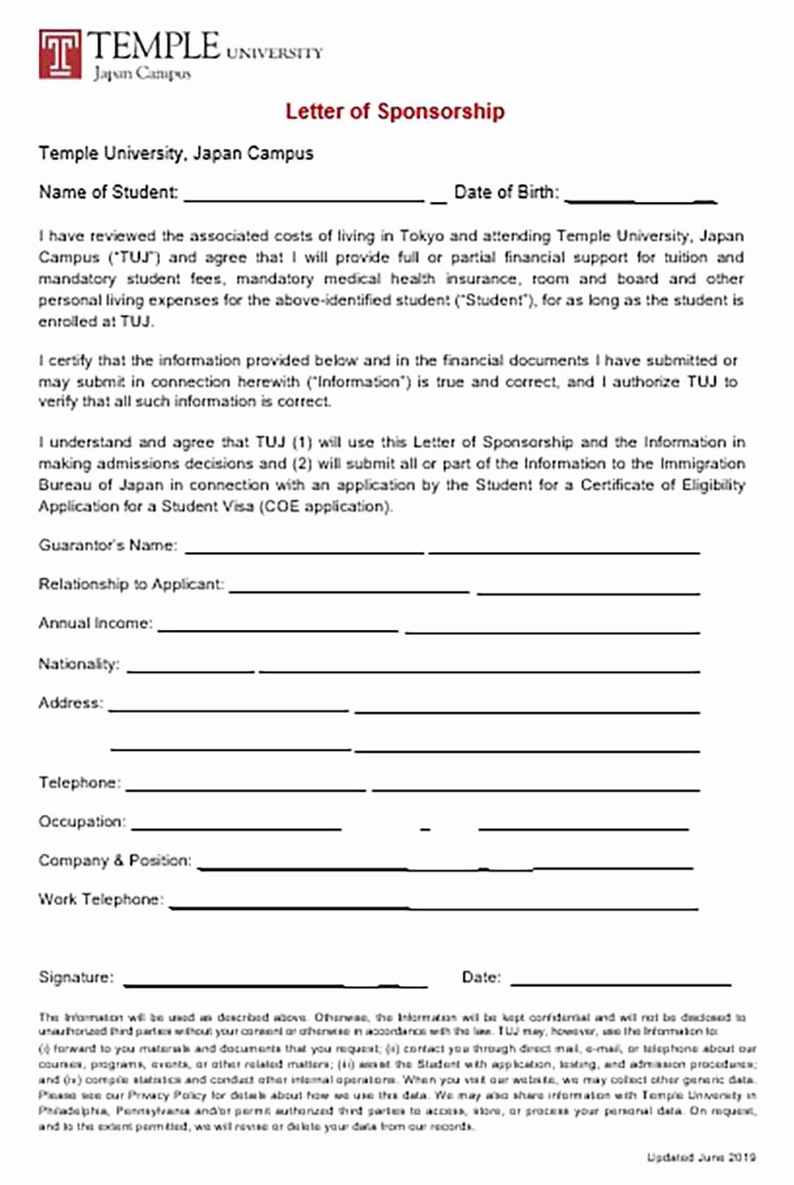 Sponsorship Letter for Visa Inspirational Visa Sponsorship Letter and Tips to Make the Reader