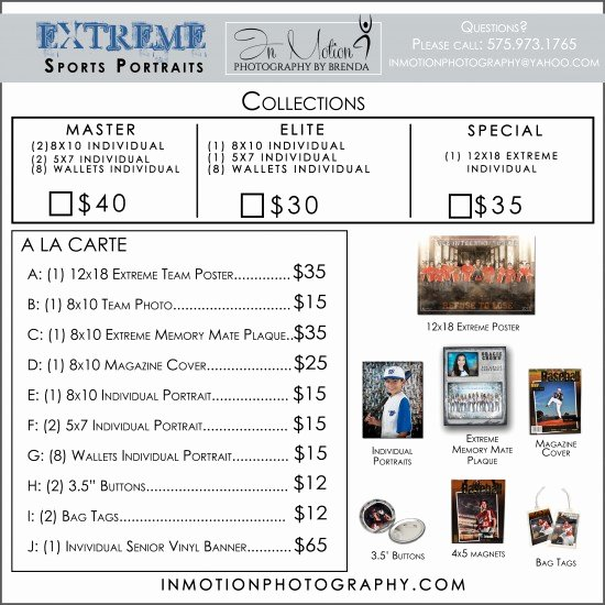 Sports Photography order form Templates Elegant In Motion Graphy by Brenda