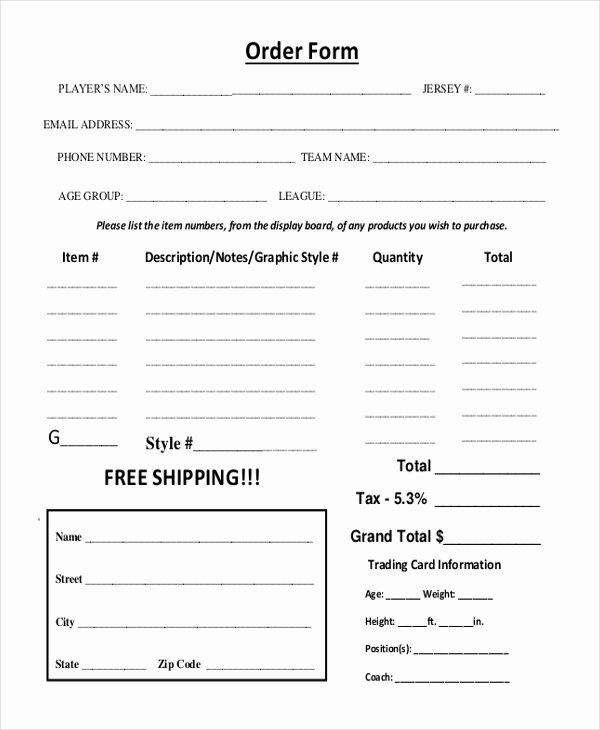 Sports Photography order form Templates Lovely Sample Graphy order form 10 Free Documents In Pdf