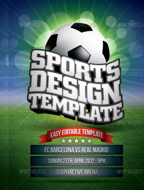 Sports Poster Templates Free Beautiful 36 Sports Flyer Templates Psd Word Ai Publisher