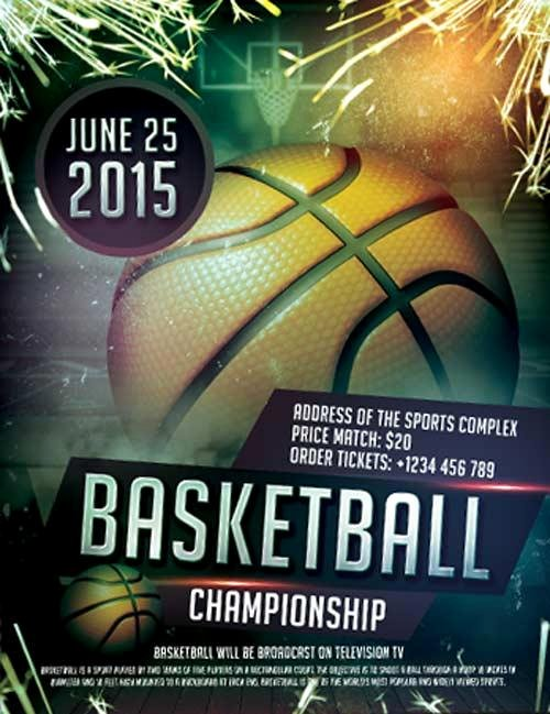 Sports Poster Templates Free Best Of 20 attractive & Free Sports Flyer Templates