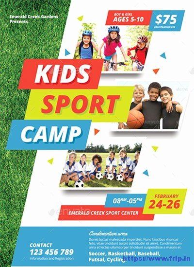Sports Poster Templates Free Best Of 50 Best Kids Summer Camp Flyer Print Templates 2019