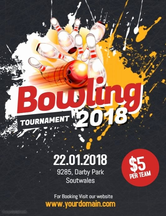 Sports Poster Templates Free Best Of Bowling tournament Flyer Poster