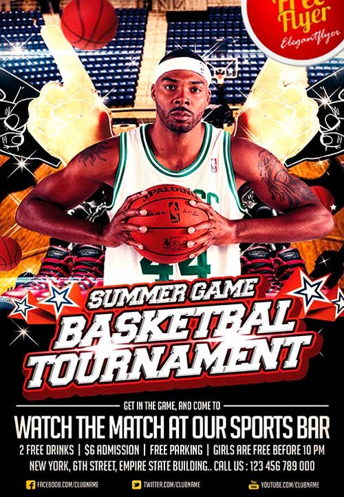 Sports Poster Templates Free Best Of Download Free Basketball Sport Psd Flyer Template