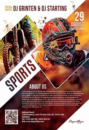 Sports Poster Templates Free Inspirational Free Sports Flyer Templates In Psd