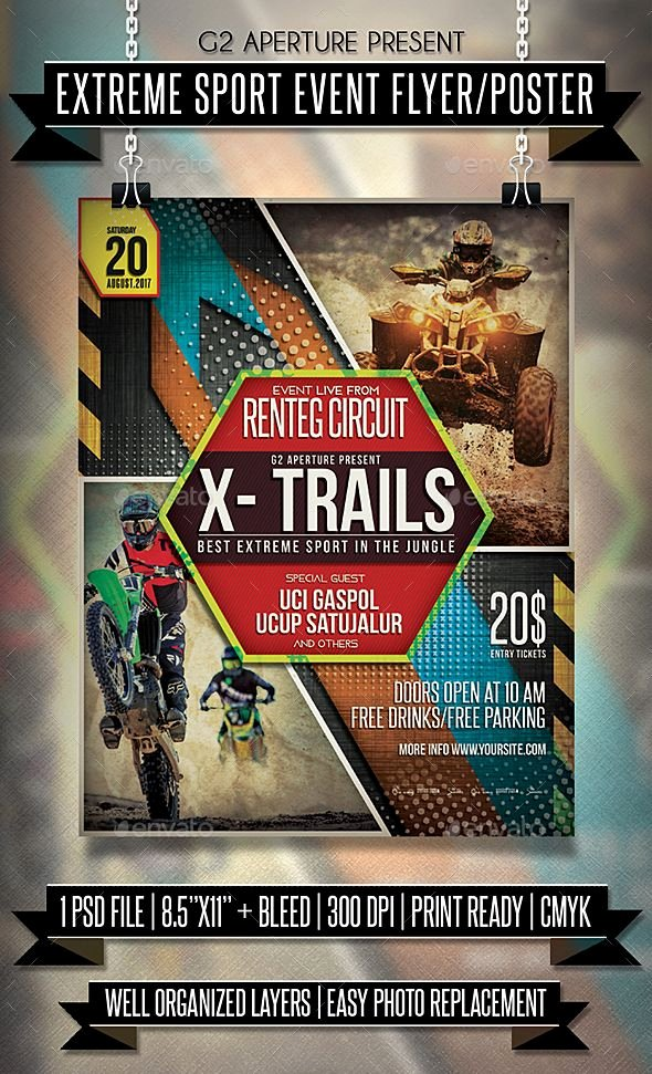 Sports Poster Templates Free Lovely Extreme Sport event Flyer Poster Template Psd
