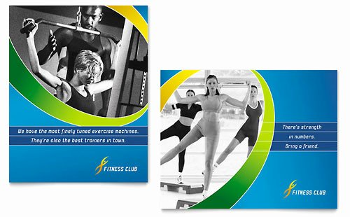 Sports Poster Templates Free Luxury Sports & Health Club Poster Template Design